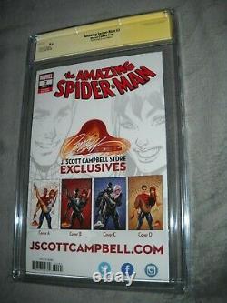 Amazing Spider Man 2 Cgc 9.6 White Signature Series J Scott Campbell C Edition