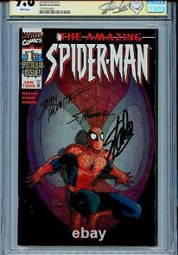 Amazing Spider-Man Vol 2 1 CGC 9.8 SS X3 Dynamic Forces Stan Lee Romita Sr Hanna