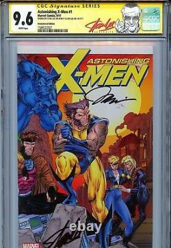 Astonishing X-Men Vol 4 1 CGC 9.6 SS X2 Remastered cover Stan Lee Jim Wolverine