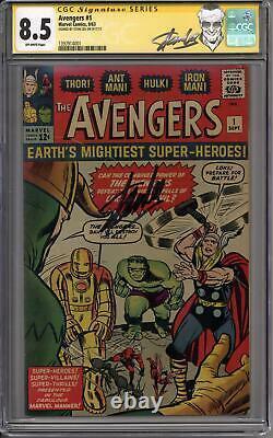Avengers #1 Stan Lee Signature Series CGC 8.5 (OW) Origin & 1st Appearance