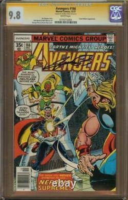 Avengers #166 CGC 9.8 Signature Series Signed GEORGE PEREZ Count Nefaria