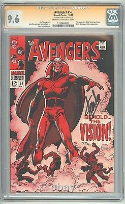 Avengers #57 CGC 9.6 NM+ 1st Vision Signature Series STAN LEE Signed 1120468002