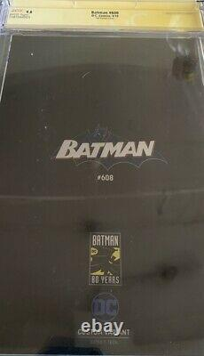 Batman #608 Cgc 9.8 Signature Series Signed By Jim Lee Foil Variant