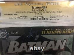 Batman #608 RRP CGC 9.0 4X Signature Series Jim Lee Loeb Williams Sinclair RARE