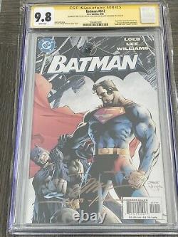 Batman 612 CGC 9.8 SS X3 1st print Jim Lee Scott Williams Alex Sinclair Hush
