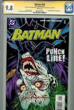 Batman 614 CGC 9.8 SS X3 Jerry Robinson Jim Lee Loeb Hush Joker Harley Quinn 608