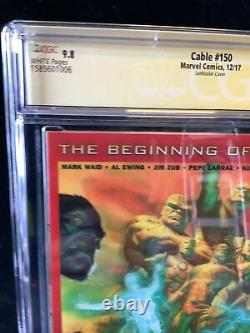 Cable #150 Lenticular CGC 9.8 Signed By Stan Lee & Todd McFarlane. Homage Cover