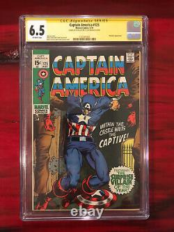 Captain America #125 CGC 6.5 SS Signed STAN LEE Signature Series Marvel Mandarin