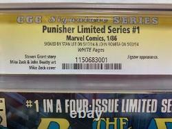Cgc 9.2 Signature Series Punisher #1(1986)! Signed By Stan Lee & John Romita Sr