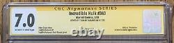 Cgc Signature Series 7.0 Fn/vf The Incredible Hulk (marvel, 1988) #340 Copper Age
