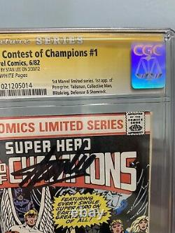 Contest of Champions 1 CGC 9.8 SS Signature Series signed Stan Lee WHITE PAGES