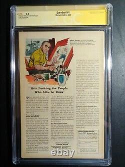 Daredevil #1 Cgc 5.0 Signature Series Stan Lee/ New Case