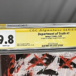 Department of Truth #1 1st Print 2020 Image 9.8 CGC Signature Series Tynion