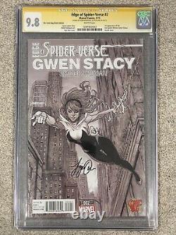 Edge of Spider-Verse #2 Comic Bug Variant CGC 9.8 Signature series 2x signed