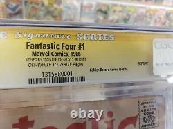 Fantastic Four #1 Golden Record Reprint. Cgc 4.0 Signature Series Stan Lee
