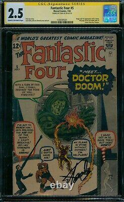 Fantastic Four 5 CGC 2.5 1st Dr. Doom Stan Lee Signature Series
