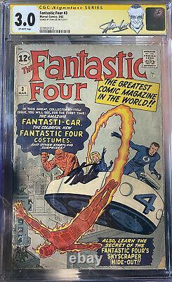 Fantastic four 3 Cgc 3.0 Signature Series Stan Lee