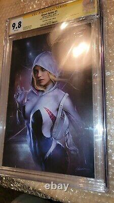 Ghost Spider #1 Virgin CGC 9.8 Signature Series Shannon Maer Comic Mint Varient