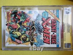 Giant size x 1 cgc 7 signature series Stan Lee and Len Wein. Signed and graded