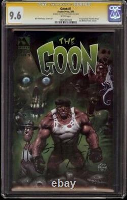 Goon # 1 CGC 9.6 White Signature Series (Avatar 1999) 1st Franky & Goon