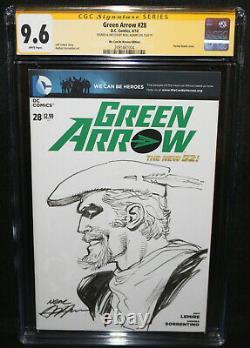 Green Arrow #28 Sketch by Neal Adams CGC Signature Series Grade 9.6 2014