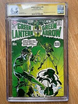 Green Lantern 76. CGC 6.5 Signature Series, signed by Neal Adams. OwithW pages