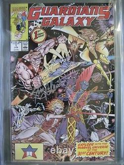 Guardians of the Galaxy #1 CGC 9.8 WP SS Signed Jim Valentino 1st Taserface