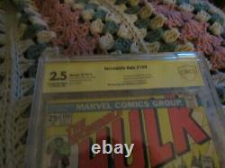 Incredible Hulk 180 Wolverine 1st App Cbcs 2.5 Lou Ferrigno Signature Series