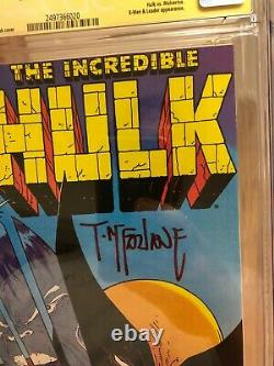 Incredible Hulk #340 CGC 9.8 WHITE Pages Signature Series Todd Mcfarlane