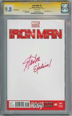 Iron Man #1 Blank Cgc 9.8 Signature Series Signed Stan Lee Excelsior Movie