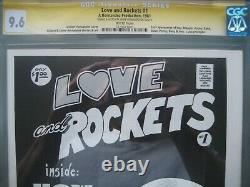 Love and Rockets #1 CGC 9.6 SS Signed & Sketch Jaime Hernandez 1st app Izzy