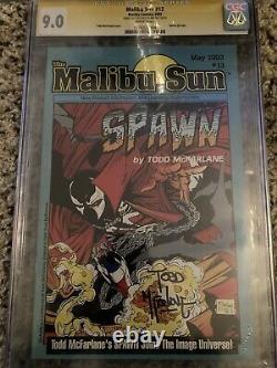 Malibu Sun #13 CGC SS 9.0 Signature Series Signed Todd McFarlane 1st Spawn