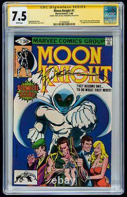 Moon Knight #1 CGC VF- 7.5 Bill Sienkiewicz Signature Series Marvel Comics