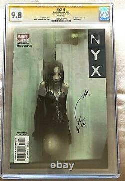 NYX #3 (Feb 2004, Marvel) CGC 9.8Signature Series Signed By Joe Quesada