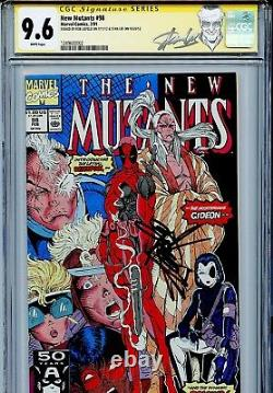 New Mutants 98 CGC 9.6 SS X2 Stan Lee Liefeld Cable X-Men 1st Deadpool Domino WP