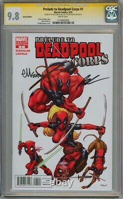 PRELUDE TO DEADPOOL CORPS #1 VARIANT CGC 9.8 SIGNATURE SERIES SIGNED x2 LIEFELD