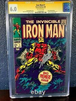 SIGNED Stan Lee IRON MAN #1 (1st Issue 1968) CGC 6.0 Signature Series SS First
