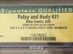 STAN LEE Signature Series CGC 4.5 Autographed PATSY Walker and HEDY #71 Catfight