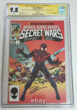 Secret Wars #1 HeroesCon CGC Signature Series 9.8 (Miles Morales Variant)