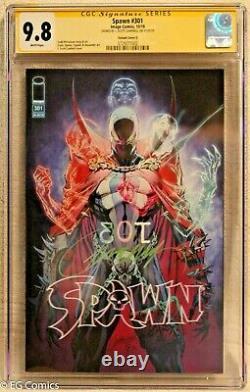 Spawn #301 CGC 9.8 3729277002 signed J. Scott Campbell Signature Series Image
