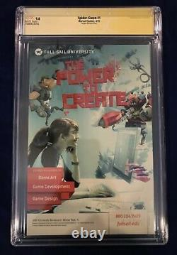 Spider-Gwen #1 Hughes Variant 1100 CGC Signature Series 9.8 Signed by Stan Lee