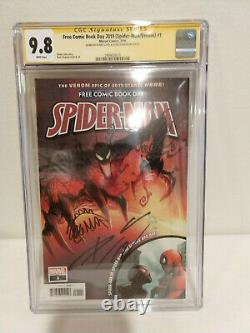 Spider-Man/Venom #1 CGC 9.8 SS 2X Cates & Stegman Free Comic Book Day