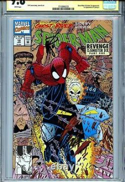 Spider-Man Vol 1 18 CGC 9.8 SS X2 Stan Lee Larsen Ghost Rider Hobgoblin Doc Ock