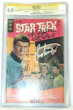 Star Trek #1 Gold Key CGC 4.0 SS Signature Series (X4) Shatner Nimoy Nichols +