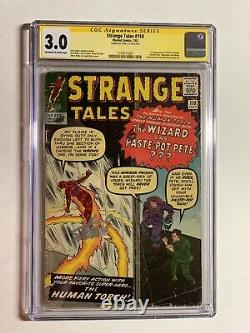 Strange Tales 110 Cgc 3.0 Ss Signed Signature Series Stan Lee 1st Dr Strange