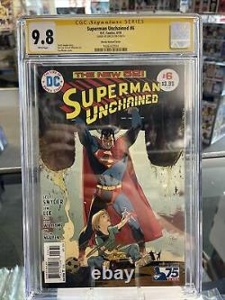 Superman Unchained #6 CGC SS 9.8 signed by jim lee! Signature series