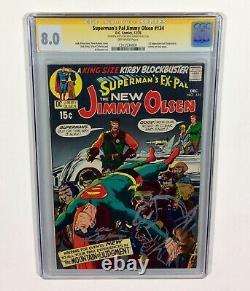 Supermans Pal Jimmy Olsen #134 CGC 8.0 SIGNATURE SERIES & DARKSEID Cover SKETCH
