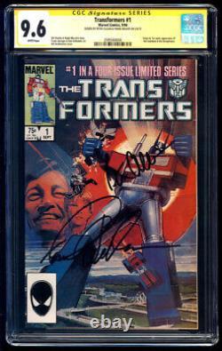 Transformers #1 SS CGC 9.6 Peter Cullen & Frank Welker Signature Series 1984 WP
