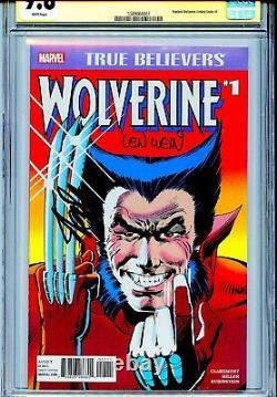 True Believers Wolverine 1 CGC 9.8 SS X2 Stan Lee Len Wein Miller Claremont WP
