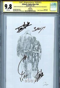 Ultimate Spider-Man 160 CGC 9.8 SS X4 Sketch Stan Lee Bagley Quesada Holland